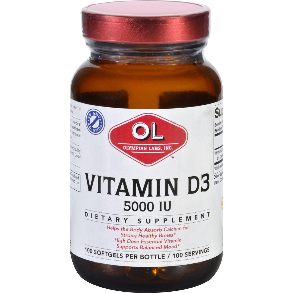 Olympian Labs Vitamin D3 - 5000 Iu - 100 Softgels