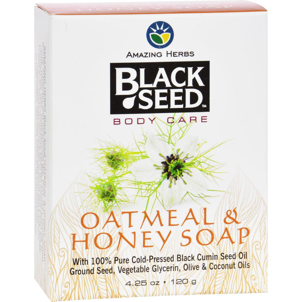 Black Seed Bar Soap - Oatmeal And Honey - 4.25 Oz
