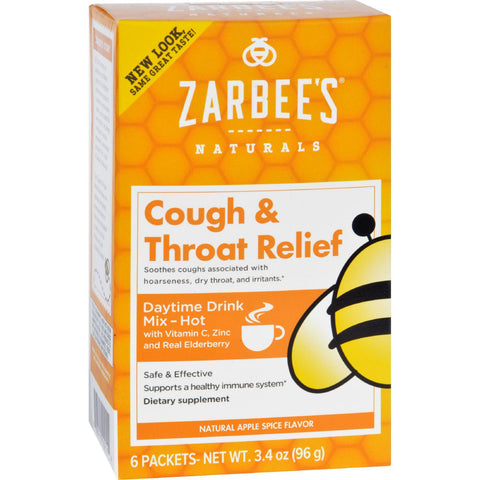 Zarbee's Cough And Throat Relief Drink Mix - Daytime Supplement - 6 Packets