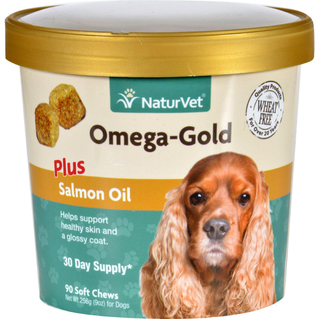 Naturvet Omega Gold - Plus Salmon Oil - Dogs - Cup - 90 Soft Chews