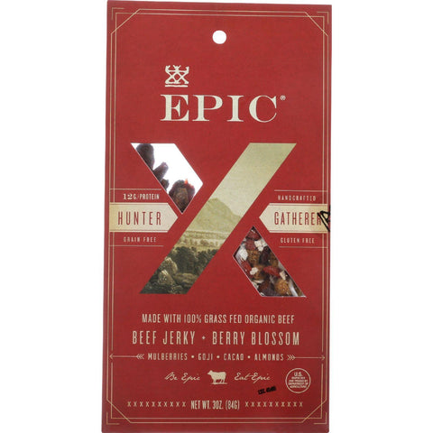 Epic Trail Mix - Beef Jerky - Hunt And Harvest - Berry Blossom - 2.25 Oz - Case Of 8