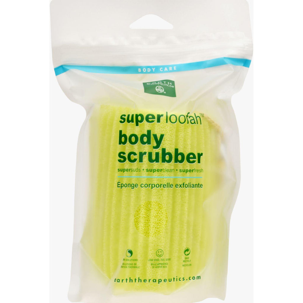 Earth Therapeutics Loofah - Super - Body Scrubber - Green - 1 Count