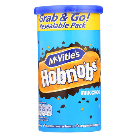 Mcvities Hobnobs - Milk Chocolate - Case Of 12 - 7.2 Oz.