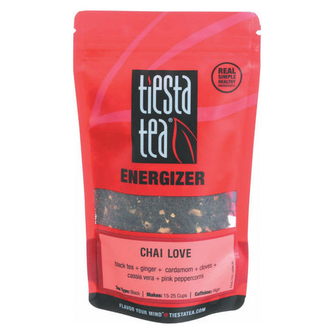 Tiesta Tea Energizer Black Tea - Chai Love - Case Of 6 - 1.9 Oz.