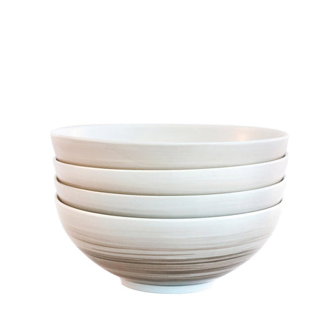 Bambeco Dakota Birch Porcelain Cereal Bowl - Case Of 4 - 4 Count