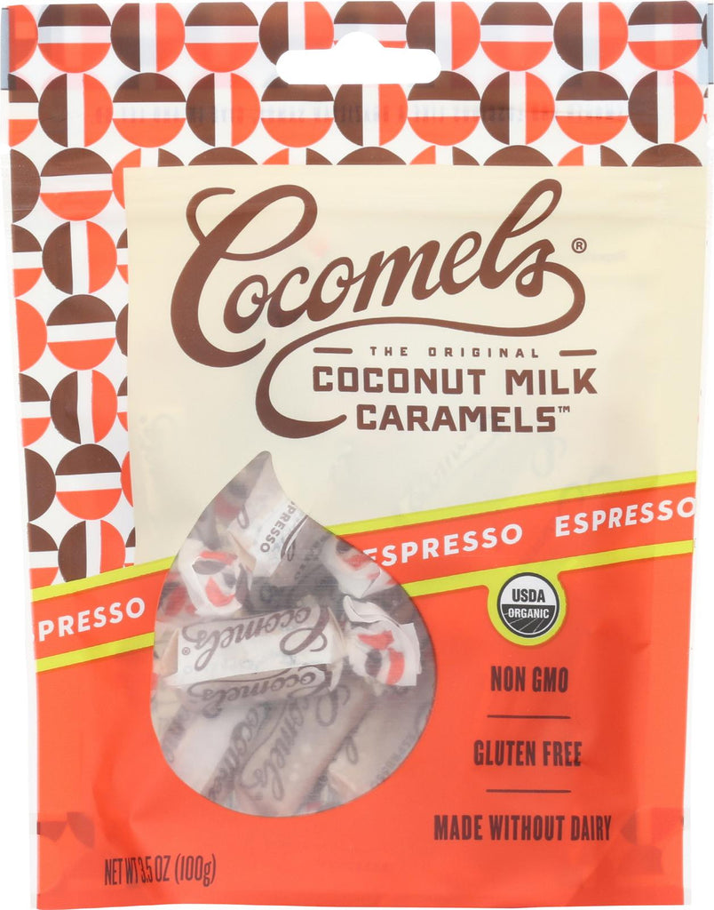 Cocomel Organic Coconut Milk Caramels - Espresso - Case Of 6 - 3.5 Oz.