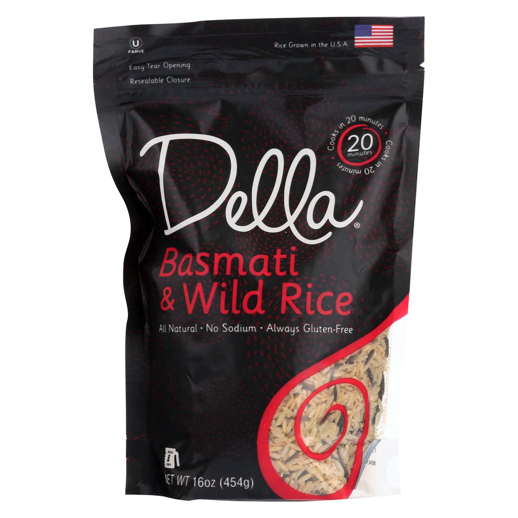 Della Quick Cook Rice Four Grain Blend - Case Of 8 - 16 Oz.