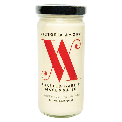 Victoria Amory Mayonnaise - Roasted Garlic - Case Of 6 - 8 Fl Oz.