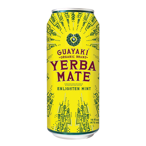 Guayaki Yerba Mate - Enlighten Mint - Case Of 12 - 15.5 Fl Oz.