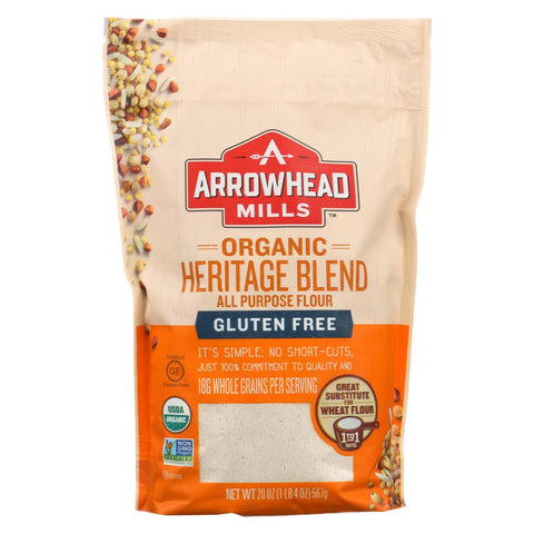Arrowhead Mills Flour - Organic - All Purpose - Heritage Blend - Gluten Free - Case Of 6 - 20 Oz