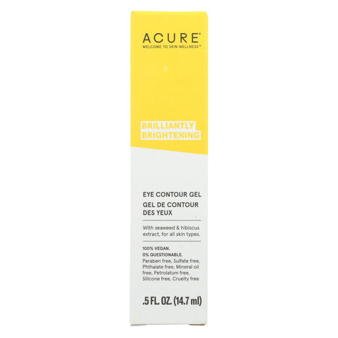 Acure Gel - Eye Contour - .5 Fl Oz