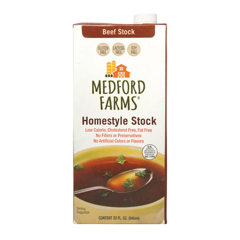 Medford Farms Stock - Beef - Case Of 12 - 32 Fl Oz
