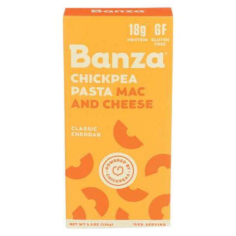 Banza Mac Cheese - Chickpea - Cheddar - Case Of 12 - 5.5 Oz