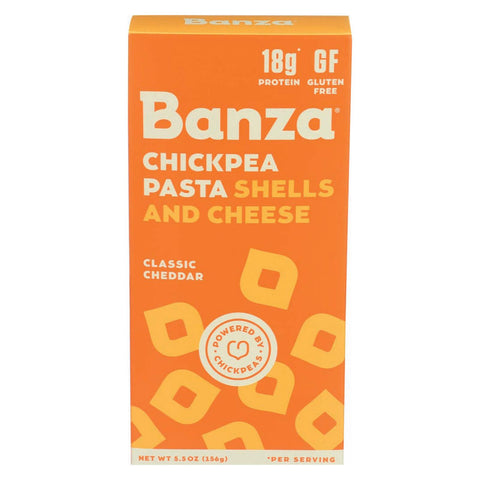 Banza Shells & Cheese - Chickpea - Case Of 12 - 5.50 Oz