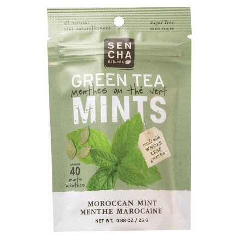 Sencha Naturals Green Tea Mints - Moroccan Mint - Case Of 12 - .88 Oz