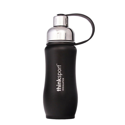 Thinksport 12oz (350ml) Insulated Sports Bottle - Black