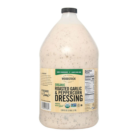 Woodstock Dressing - Organic - Roasted Gar&pprcrn - Case Of 4 - 128 Fl Oz