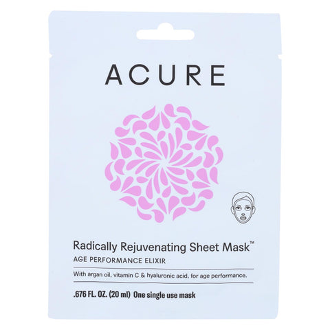 Acure Mask - Rejuvenating - Sheet - 1 Ea
