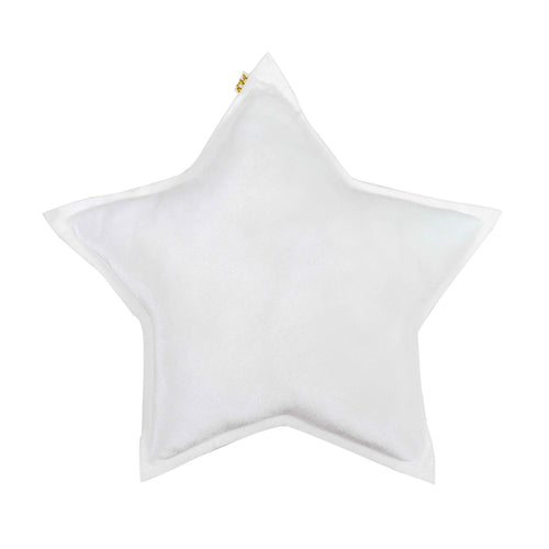 Numero 74 Velvet Star Cushion - White