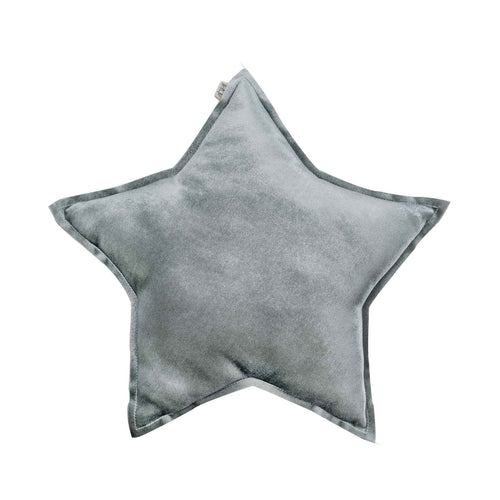Numero 74 Velvet Star Cushion - Silver