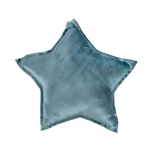 Numero 74 Velvet Star Cushion - Grey