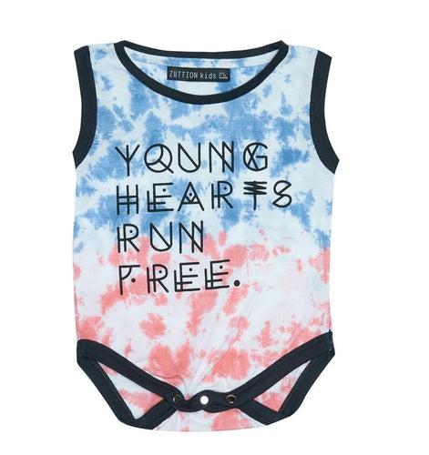 Zuttion Young Hearts Run Free Onesie