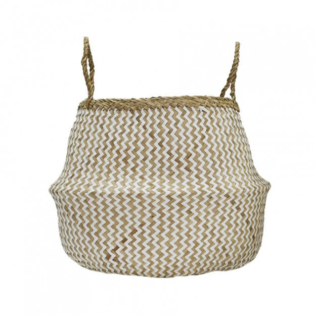 Olliella Zig Zag Belly Basket - Medium