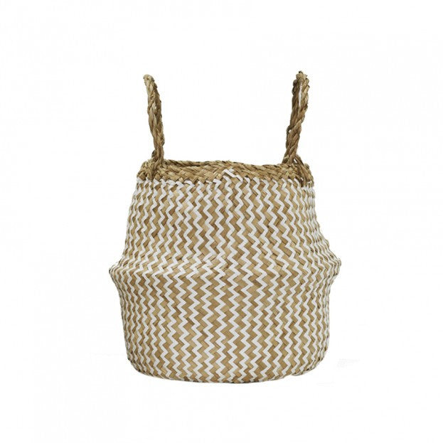Olliella Zig Zag Belly Basket - Small