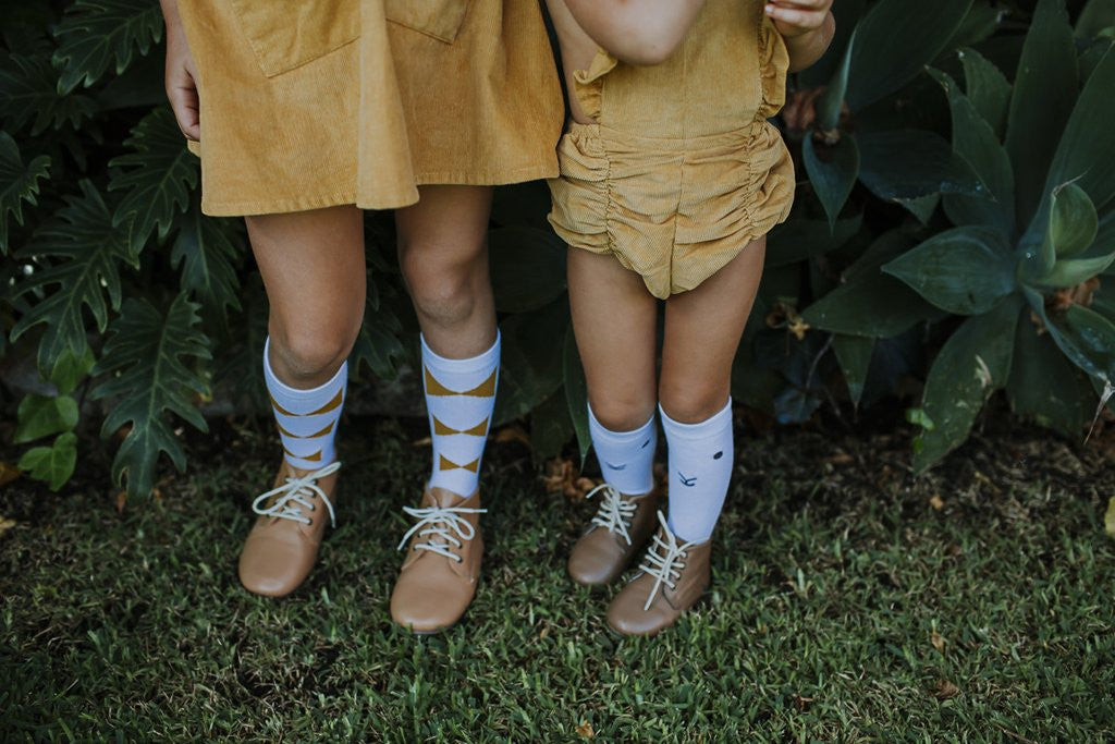 Hubble + Duke Mustard Bows Knee High Socks