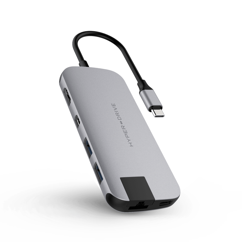 HyperDrive 8 in 1 USB C hub for MacBook, iPad Pro and other USB C devices