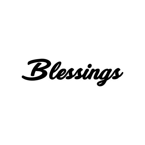 BLESSINGS Decal Sticker