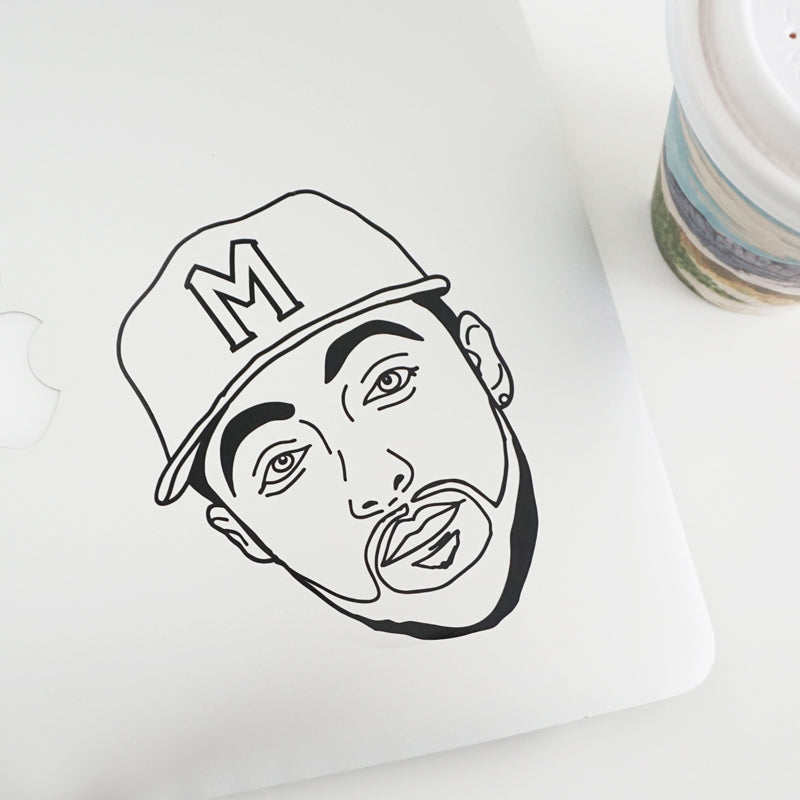 MAC MILLER FACE Decal Sticker