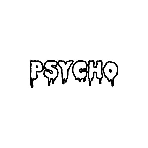 PSYCHO Decal Sticker