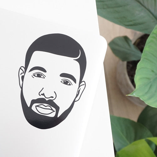 DRAKE FACE Decal Sticker