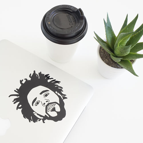J COLE FACE Decal Sticker