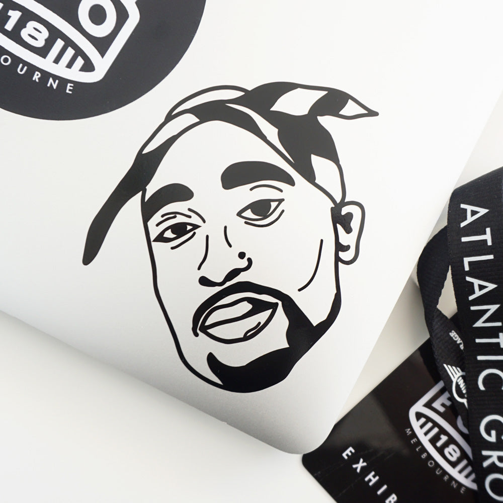 TUPAC 2PAC FACE Decal Sticker