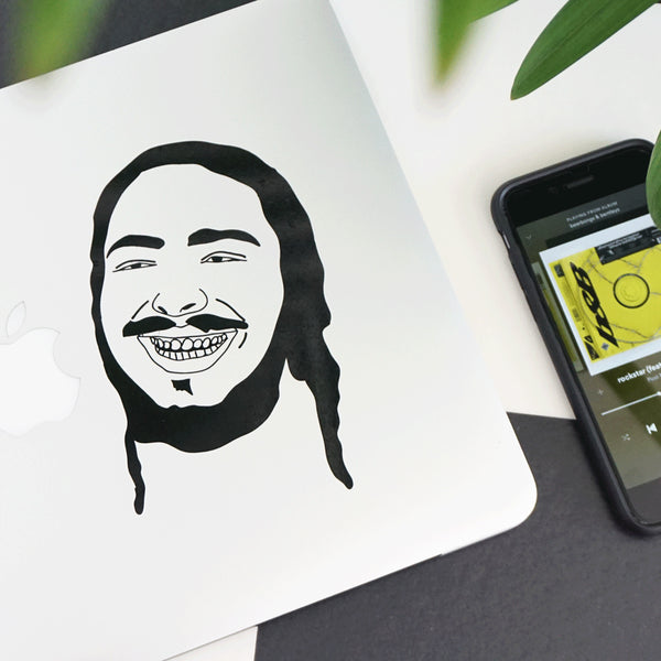 POST MALONE FACE Decal Sticker