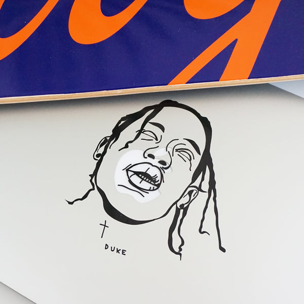TRAVIS SCOTT FACE Decal Sticker