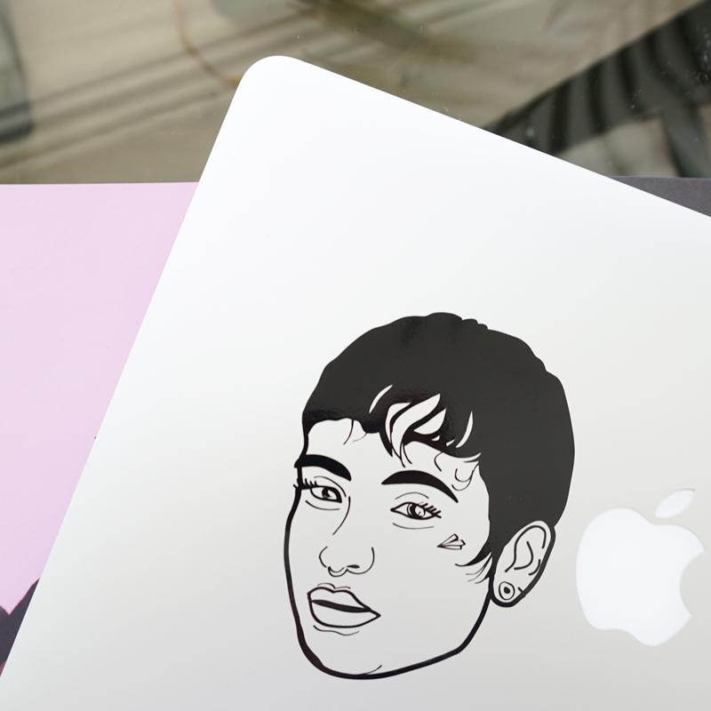 KEHLANI FACE Decal Sticker