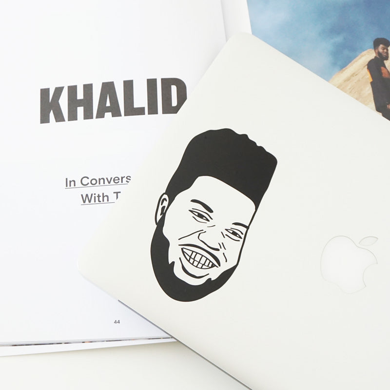 KHALID FACE Decal Sticker