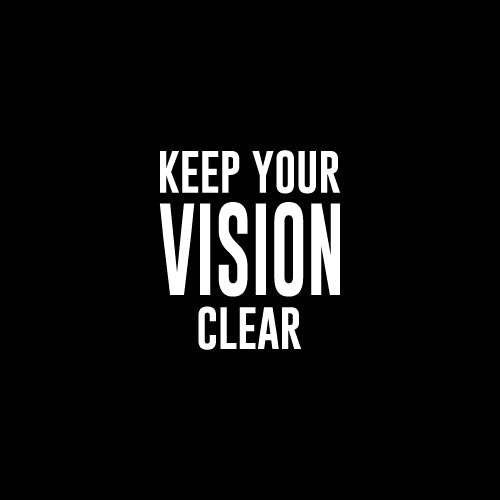 VISION CLEAR Decal Sticker