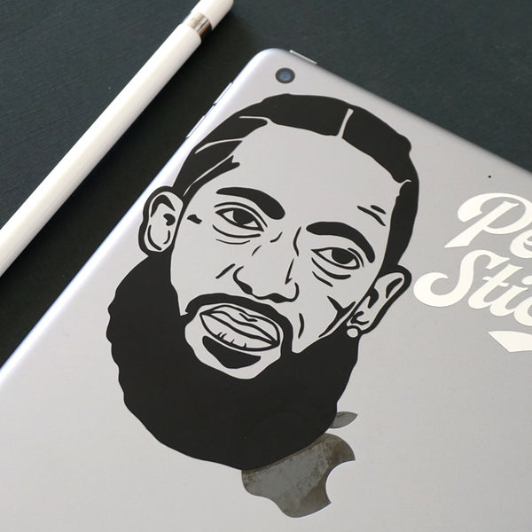NIPSEY FACE Decal Sticker