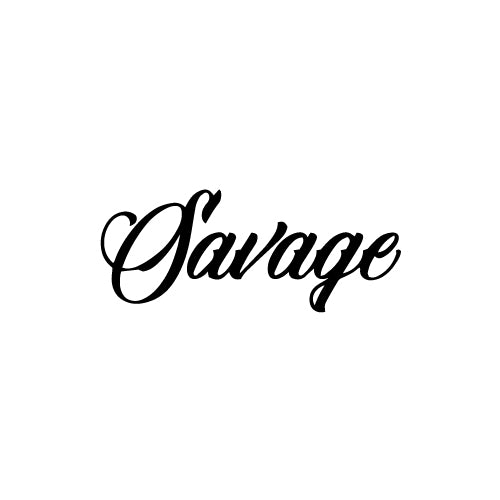 SAVAGE CURSIVE Decal Sticker