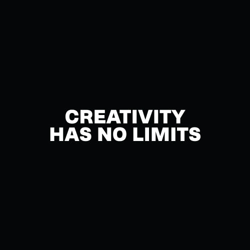 CREATIVITY HAS NO LIMITS Decal Sticker