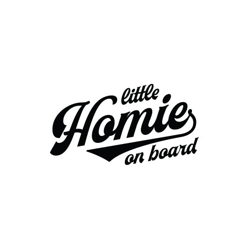 THE LITTLE HOMIE ON BOARD Decal Sticker