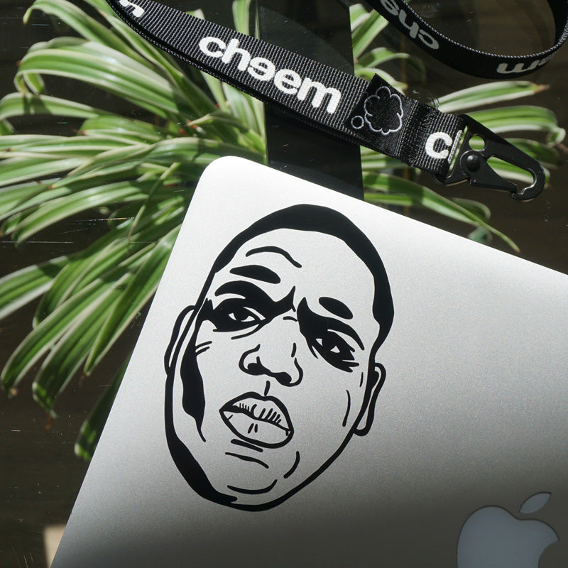BIGGIE SMALLS FACE Decal Sticker