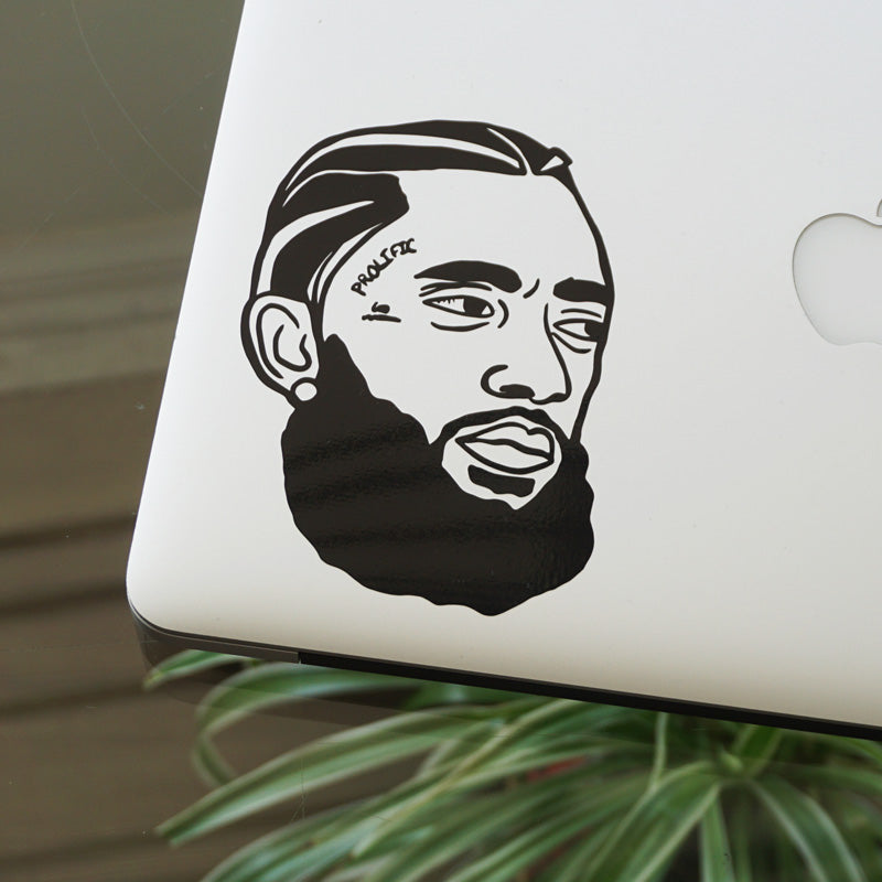 HUSSLE FACE Decal Sticker