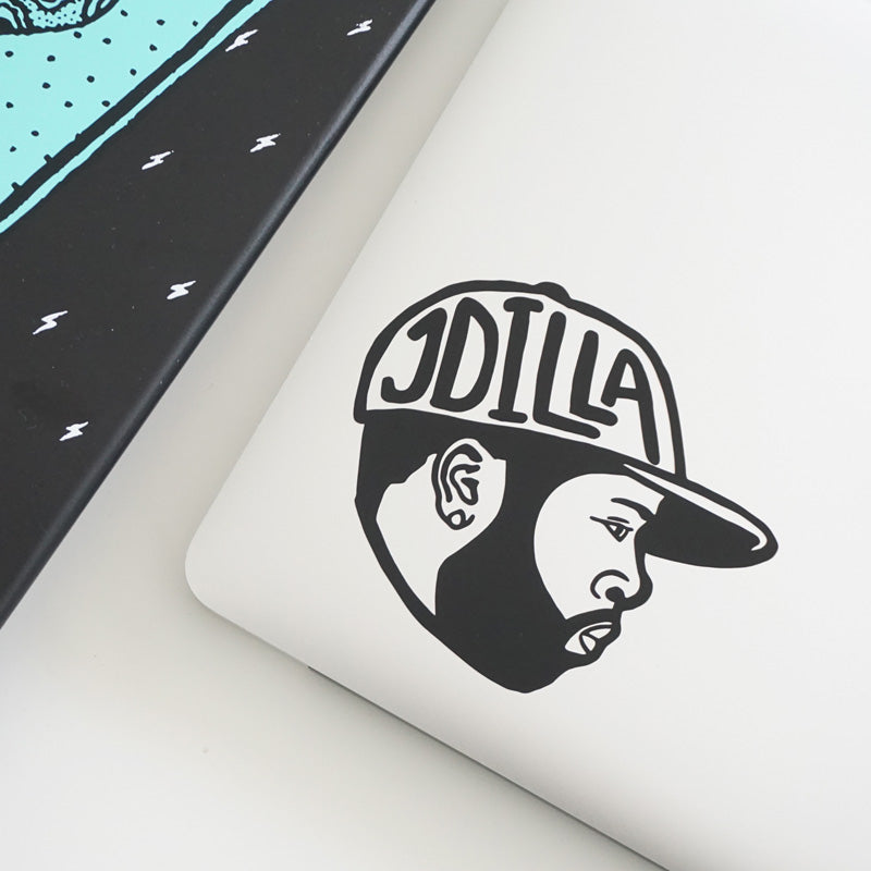 J DILLA FACE Decal Sticker