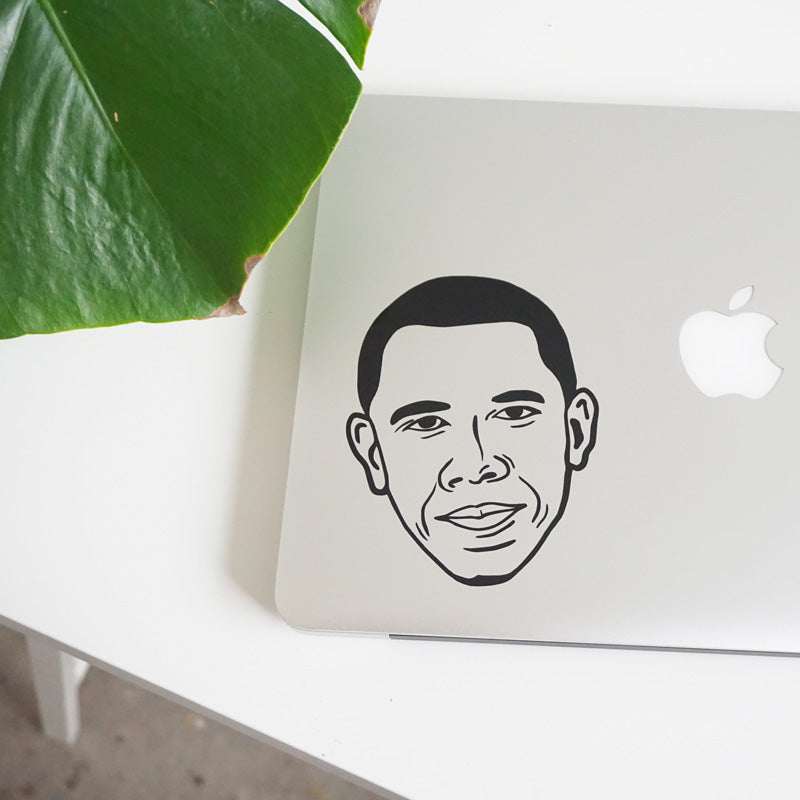 OBAMA FACE Decal Sticker