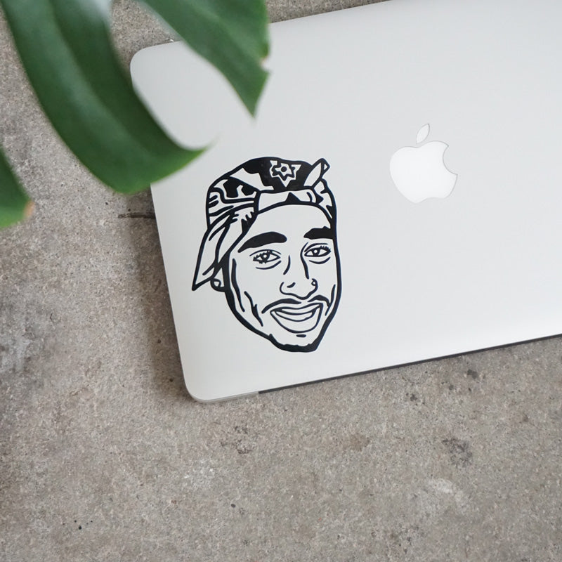 TUPAC FACE Decal Sticker